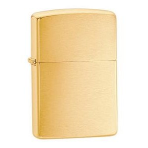 Zippo® Brushed Solid Brass Lighter