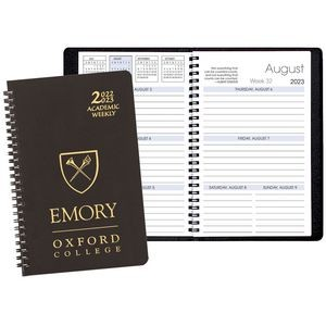 Academic Weekly Planner w/ Leatherette Cover