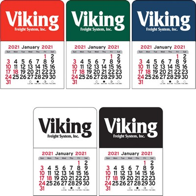 Rectangle Vinyl Adhesive Mini Stick Calendar - 2021
