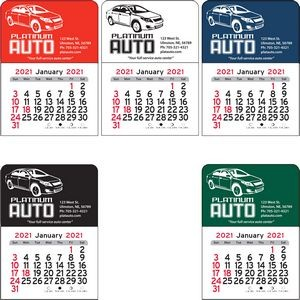 Car Vinyl Adhesive Mini Stick Calendar - 2021